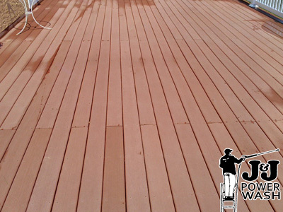 Charming ... Composite Deck Power Washing After ...