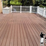 Composite Deck Power Washing Before