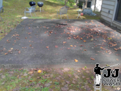 How to pressure wash a patio south jersey pressure washing for Pressure wash concrete patio
