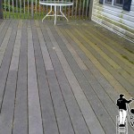 Deck Power Washing Before