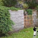 Retaining Wall Power Washing During