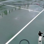 Philadelphia Tennis Courts Powerwashing