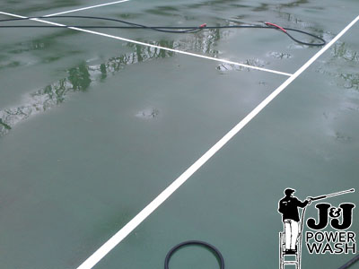 How to Power Wash a Tennis Court - After