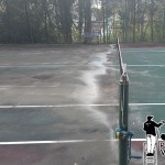 Wayne, Pa Tennis Courts Pressure Washing