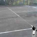 Tennis Court Power Washing