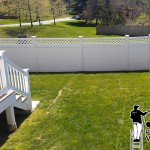 Pressure Washing PFC Fence After