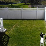 Pressure Washing PFC Fence Before