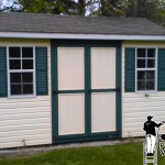 Vinyl Shed Siding Pressure Washing