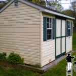 Vinyl Shed Siding Power Washing
