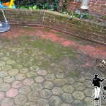 Brick Patio Pressure Washing