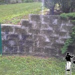 retaining wall powerwashing