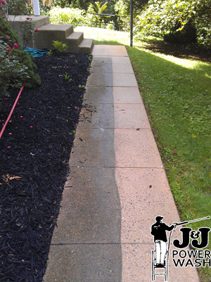 How to Pressure Wash a Sidewalk - Before