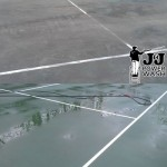 Tennis Courts- Before & After Pressure Washing
