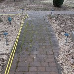 brick walkway before